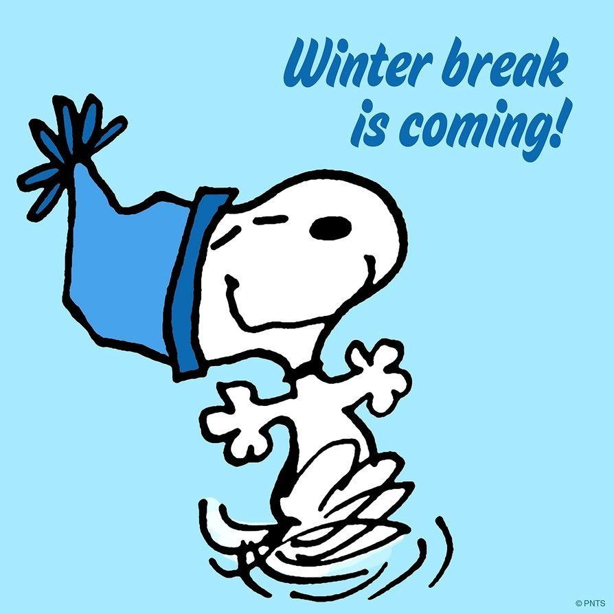 winter break is coming