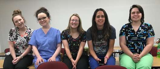 Five young ladies successfully completed the Nursing Assistant Course!