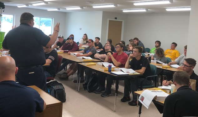 Full house for the Senior Only EMT/ Fire program at Post-Secondary Campus!