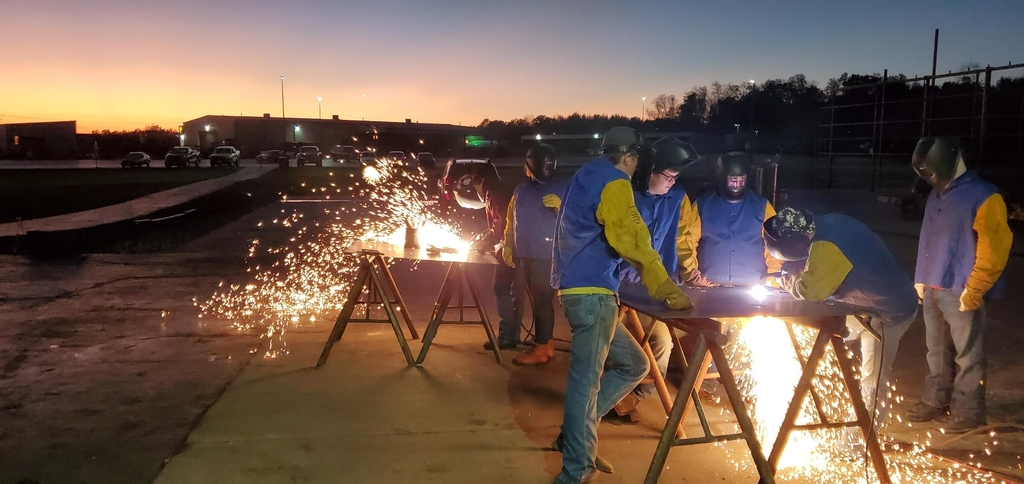 Most evenings, the adult welding class can be found perfecting their welding skills!
