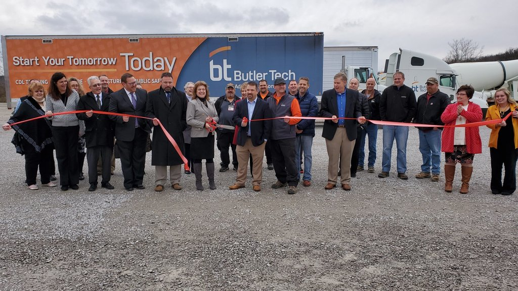 Ribbon Cutting for the CDL Training Course