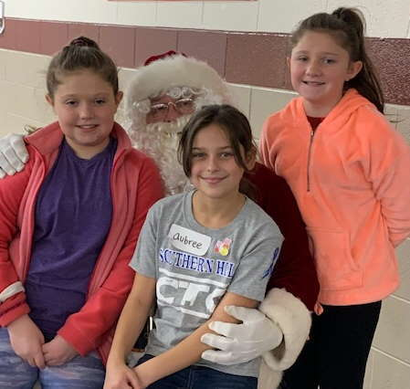 Santa visited with everyone during Super Saturday!