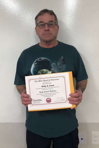 Ricky Cross earned his Diploma as well as his American Welding Society certification in Flux Cored Arc Welding!